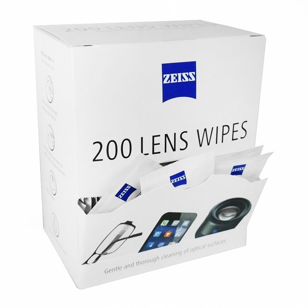 Zeiss Lens Wipes - Box of 200. Cambrian Photography, North Wales. hey're also great for cleaning binoculars, spotting scopes, LCD displays, smartphones, tablet PCs, laptops, etc.
