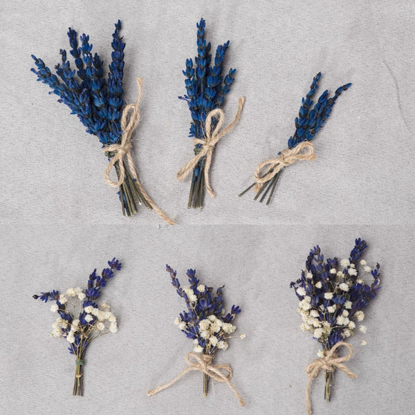 Lavender boutonniere Natural groom buttonhole Witness jacket pin Groomsmen corsage Best man boutonnieres Provence boutonniere Magaela