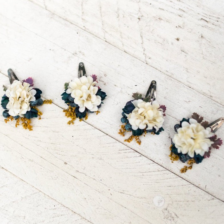 Autumn hair clips Hair clip with blueberries Romantic hair clip Lovely hairpins Hair accessories