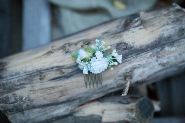 Mini hair combs Floral hair combs Autumn collection Combs with fresh colors Hair combs for bride