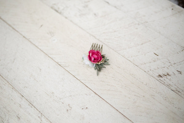 Romantic spring mini hair comb Natur style Wedding hair comb Flower hair comb Mini hair comb Bridal hair fashion accessories