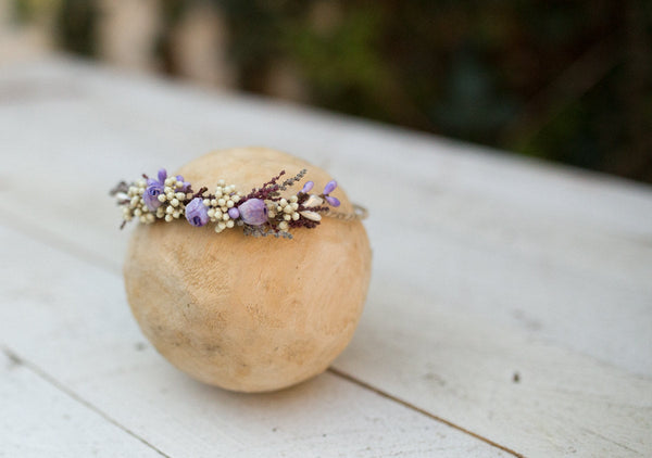 Baby Headband,Baby girl Headband,Newborn headband,Baby headbands, violet and ivory Headband, nature Headband,Flower Headband,Baby Bows.