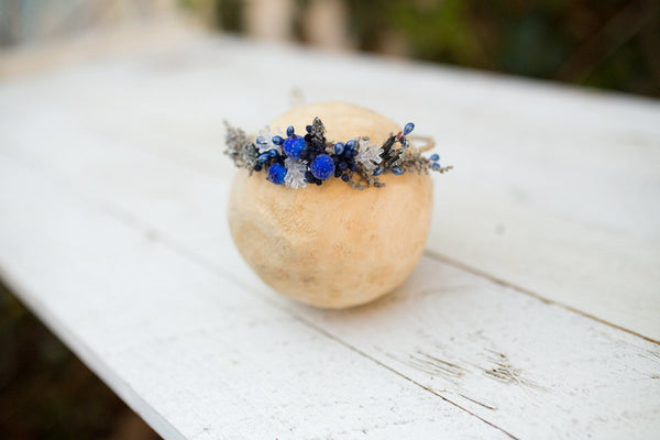 Baby flowers wreath,Winter newborn wreath,navy blue Newborn,photography photo prop child wreath,newborn crown,baby photo,baby flower crown