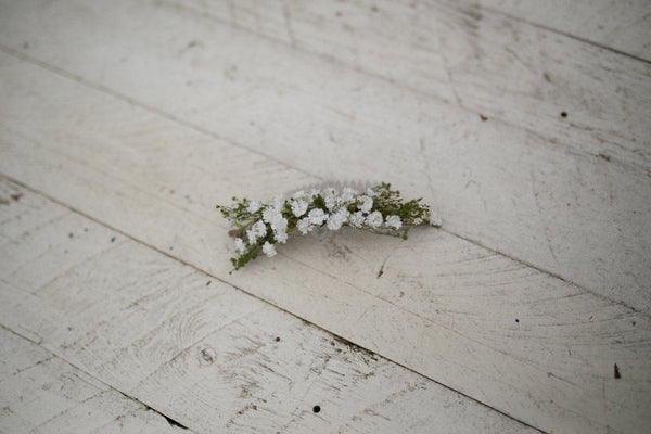 Spring hair comb Wedding hair comb Flower hair comb Hair comb with babybreath and grass Bridal hair fashion accessories