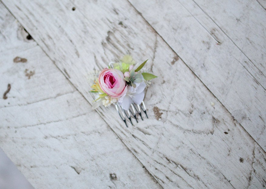 Mini hair comb Spring mini comb Flower hair comb Wedding hair comb Flower hair comb Mini hair comb Bridal hair fashion accessories