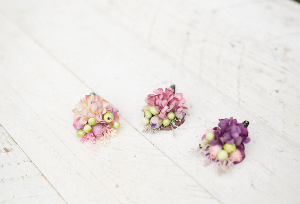 Hair clip with berries Romantic hair clips Hair clips for kids or women Lovely hairpins Hair accessories Magaela accessories