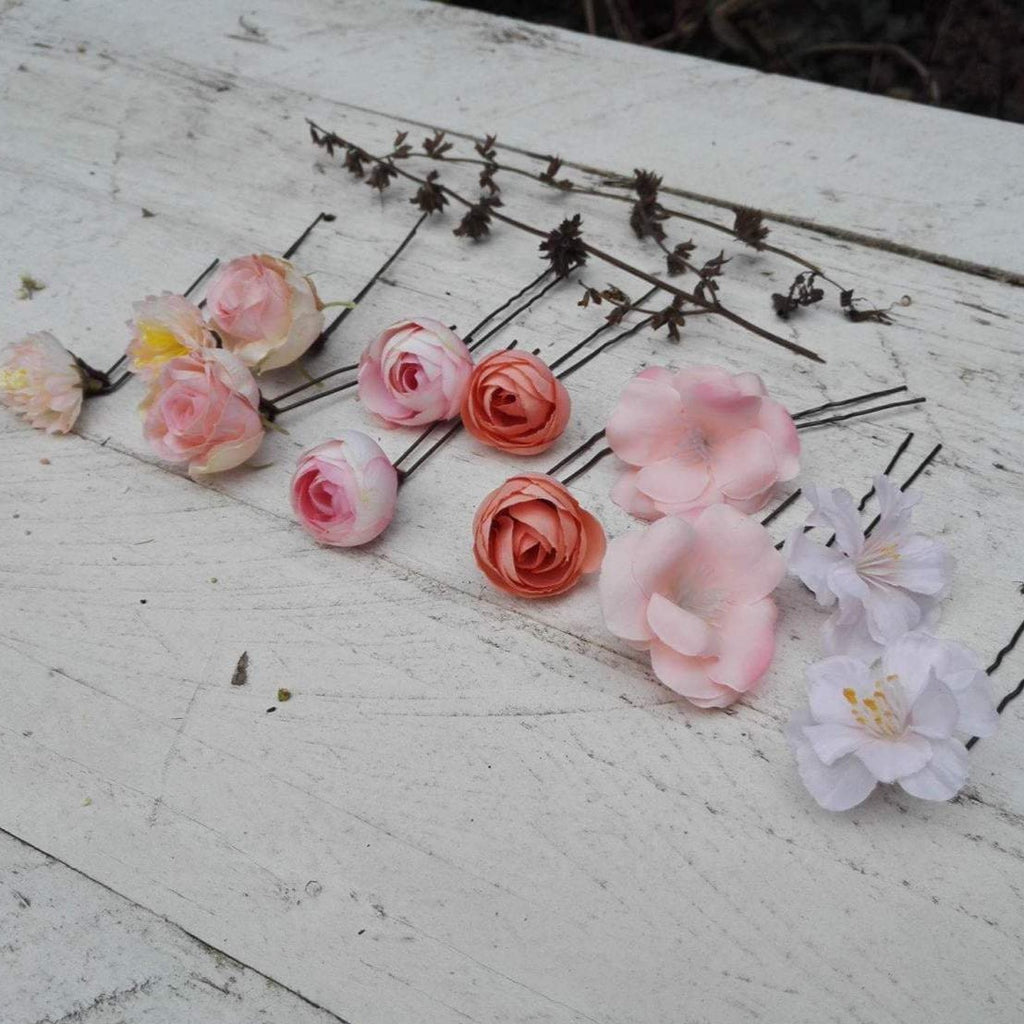 Hair flowers flower hair pins wedding floral accessories