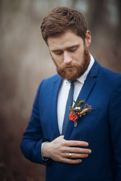 Wedding accessories  Folk boutonniere Groom accessories Folk corsage  Accessories for groom Handmade groom boutonniere Wedding accessories