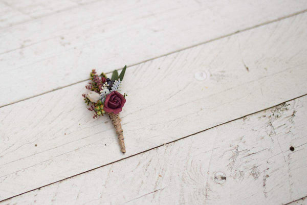 Rustic boutonniere Boho wedding Flower butonniere Groom accessories Accessories for groom Handmade groom boutonniere Wedding accessories