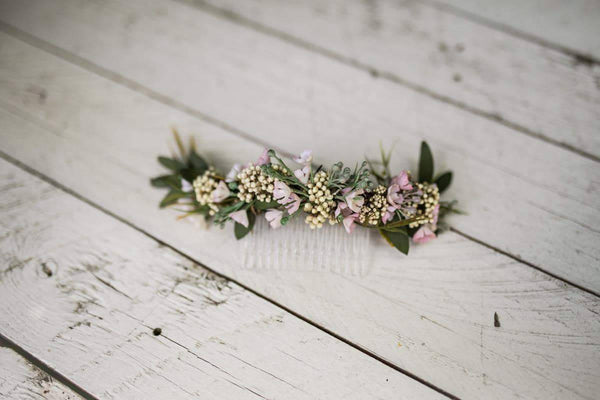 Romantic hair comb Flower hair comb Hair flowers Wedding comb Bridal hair fashion accessories Boho style