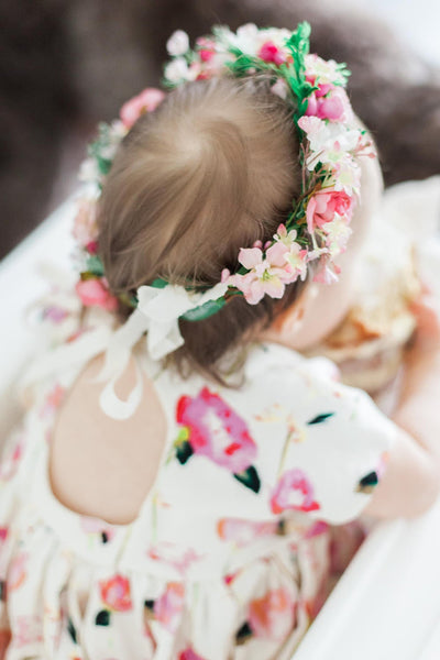 Romantic hair wreath Newborn wreath Childrens crown Hair wreath for flower girl Baby flower crown