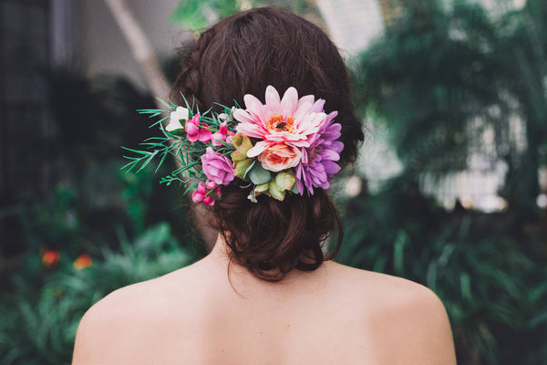 Wedding hair comb Flower handmade comb with gerbera Bridal hair comb Romantic hair comb Hairstyle Bridal hair fashion accessories