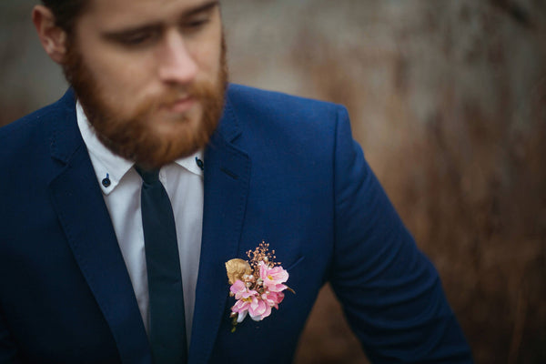 Romantic feather Groom accessories Romantic corsage Pink wedding Accessories for groom Handmade groom boutonniere Wedding accessories