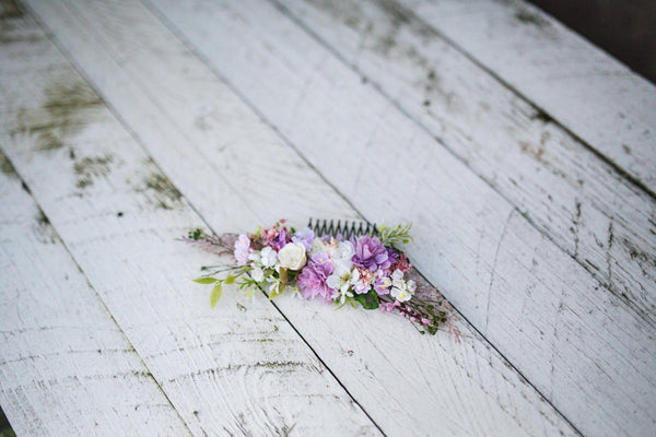Pastel hair comb Wedding hair comb Romantic hair comb Hair comb in romantic colors Romantic bridal comb Bridal hair jewellery