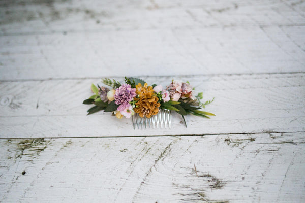 Autumn hair comb Wedding hair comb Gentle autumn colors Romantic hair comb Bigger hair comb Bridal hair jewellery