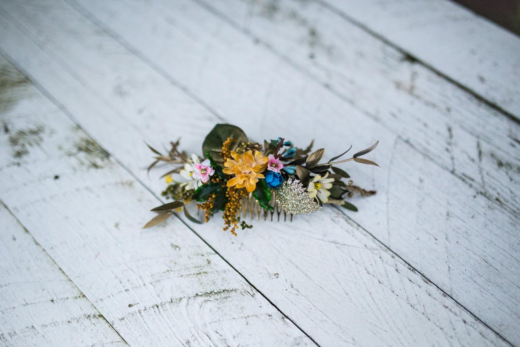 Glamour hair comb Wedding hair comb Vintage hair comb Hair comb with gold details Bridal comb Bridal hair jewellery