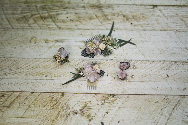 Romantic hair comb Vintage hair comb Flower hair comb Bridal hair comb Wedding comb Bridal hair fashion accessories