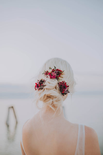 Set of flower accessories Flower bridal hair comb hair pin wedding Flower application Magaela accessories Bridal hair pin Flower hair comb