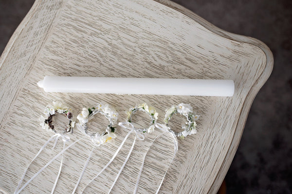Candle decoration for first holy communion Floral decoration First holy communion Magaela accessories Handmade product