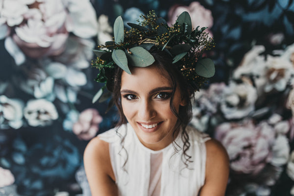 Greenery wreath Natural floral crown Magaela accessories Wedding accessories Hair accessories hair piece fashion natural style Boho wreath