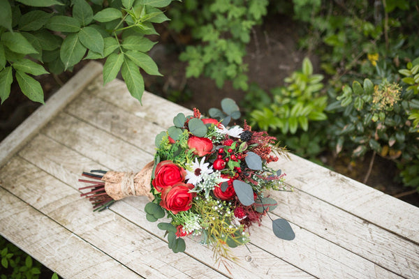 Wedding Bouquet Bridal with berries Bouquet Flower Bridal Bouquet Woodland Bouquet Rustic Bouquet Bridesmaid Bouquet Natural Bouquet