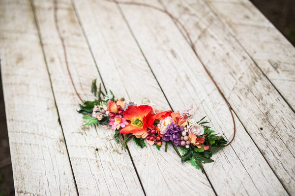 Colourful summer belt Wedding belt Bridal accessories Wild flower belt with colorful flowers Floral belt  Belt on dress Wedding accessories