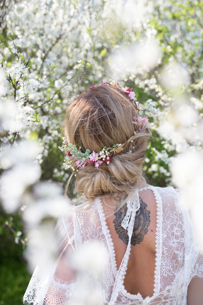 Decorative rustic hair comb Wedding hair comb Spring pinky hair comb Magaela accessories Wedding accessories Bridal accessories Bridal comb