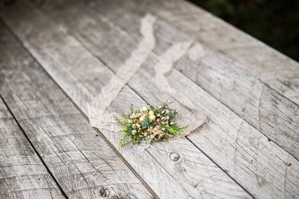 Greenery wedding set Bridal set Floral accessories Bridal accessories Grooms boutonniere Hair crown Floral belt Floral earrings  Ring