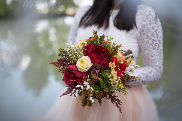 Autumn Wedding Bouquet Bridal Bouquet Flower Accessories Magaela Bridal Bouquet Woodland Bouquet Bridesmaid Bouquet Natural Bouquet
