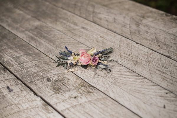 Decorative hair comb in pastel colours Wedding hair comb Floral hair comb Flower accessories Bridal hair comb Hair accessories Hair flowers