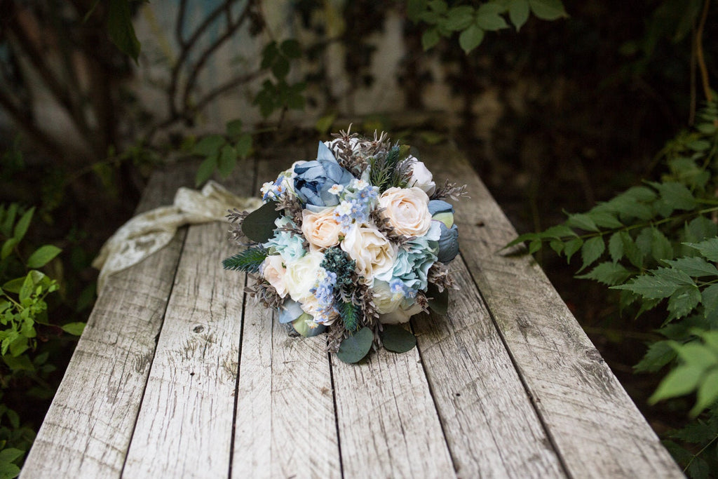 Wedding Bouquet in blue colours Bridal Bouquet in pastel colours Flower Bouquet Romantic Bouquet Bridesmaid Bouquet Natural Bouquet