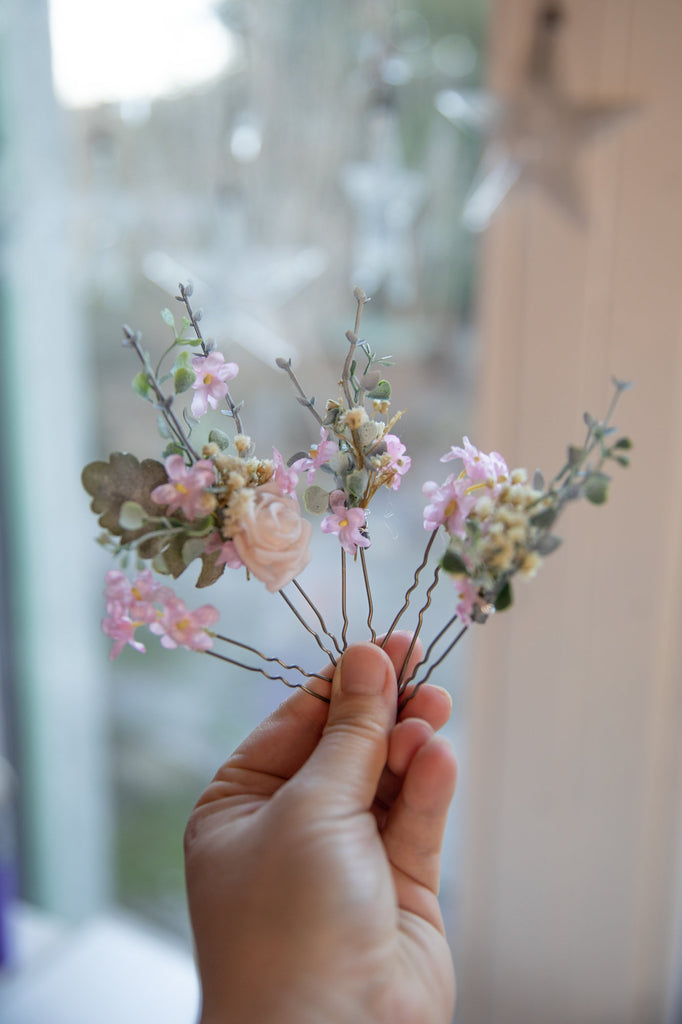 Set of hair accessories Set of hair pins Flower hair set Flower hairpins Wedding hair pins Bridal hair pins Hair accessories Flower hair pin