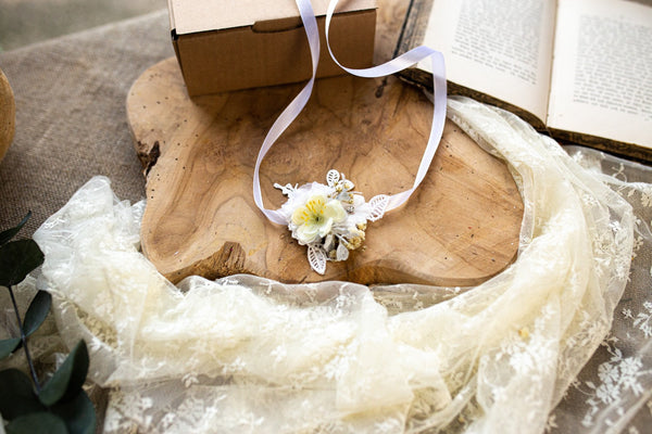 First Holy Communion headband Flower belt Cande decoration Communion bracelet Hair accessories Magaela Handmade 2021