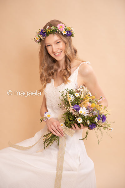 Meadowy wedding bouquet Bridal bouquet Flower Bridal Bouquet Rustic Bouquet Bridesmaid Bouquet Artificial Bouquet Magaela accessories
