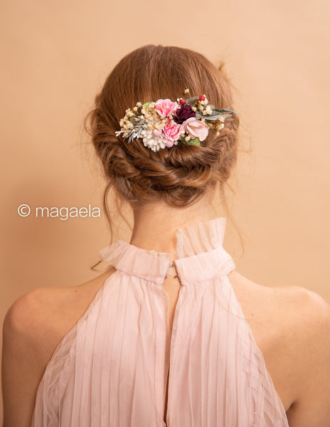 Vintage wedding hair comb Flower hair comb Bridal accessories Floral comb for bride Magaela accessories Wedding accessories Romantic comb