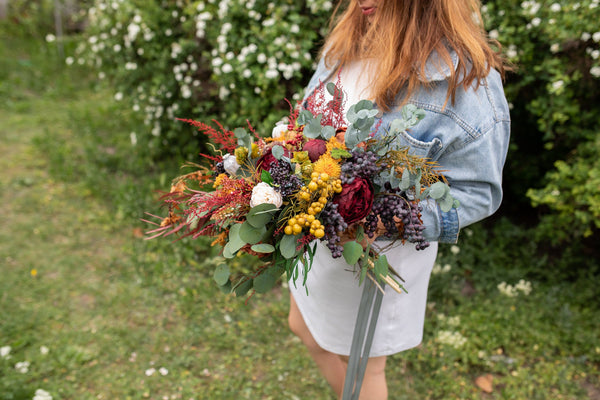 Autumn Wedding Bouquet Bridal Bouquet Flower Bridal Bouquet Woodland Bouquet Rustic Bouquet Bridesmaid Bouquet Natural Bouquet Magaela Fall