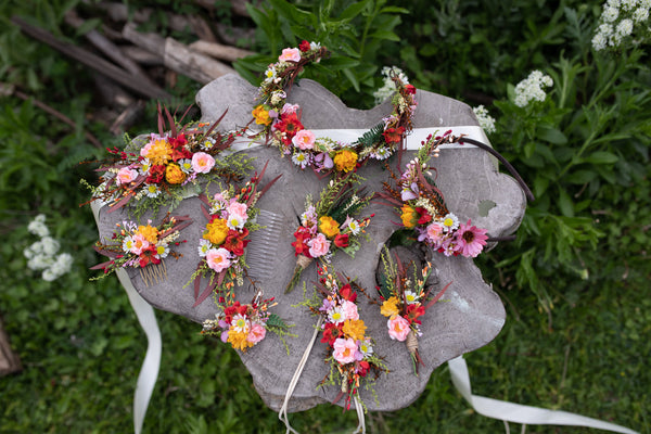 Summer flower belt Bridal accessories Wedding flower belt Flower accessories Flower sash for bride Belt for dress Handmade flower belt