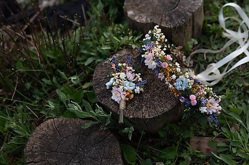 Meadow flower hair wreath with lavender Bridal hair crown Wedding hair crown Flower crown Magaela accessories Bridal accessories Handmade