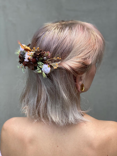 Autumn wedding hair comb Peigne cheveux marriage Magaela accessories Bridal wedding arrangement Blumenkaam Flower jewellery Handmade