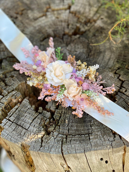 Bridal belt in bright colours Wedding belt Wedding accessories Wedding sash Floral belt Blush Ivory Floral accessories Magaela accessories