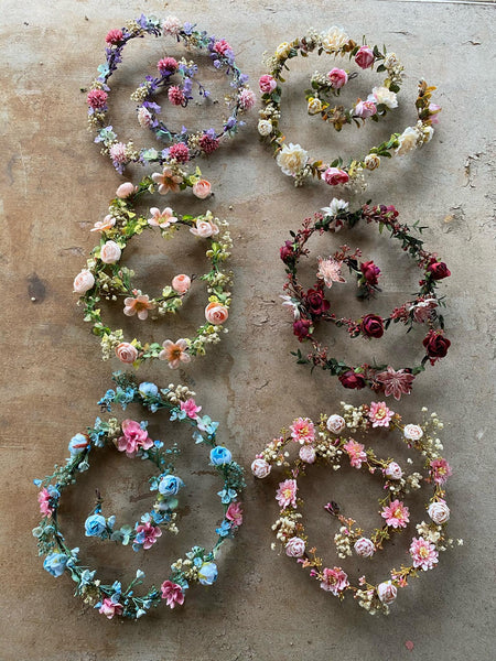 Peach wedding garland Floral garland Hair garland Wedding accessories Hair jewelry Hair flowers Bridal garland Hair wreath Hair accessories