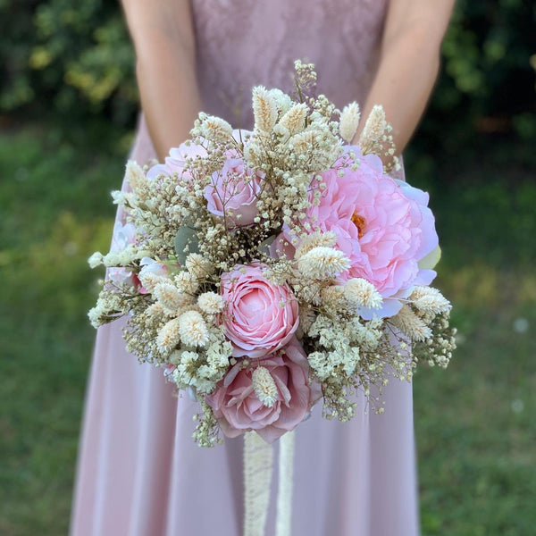 Pink and ivory romantic wedding bouquet Blush Bridal bouquet Flower Bridesmaid Bouquet Artificial Bouquet Magaela accessories Personalised