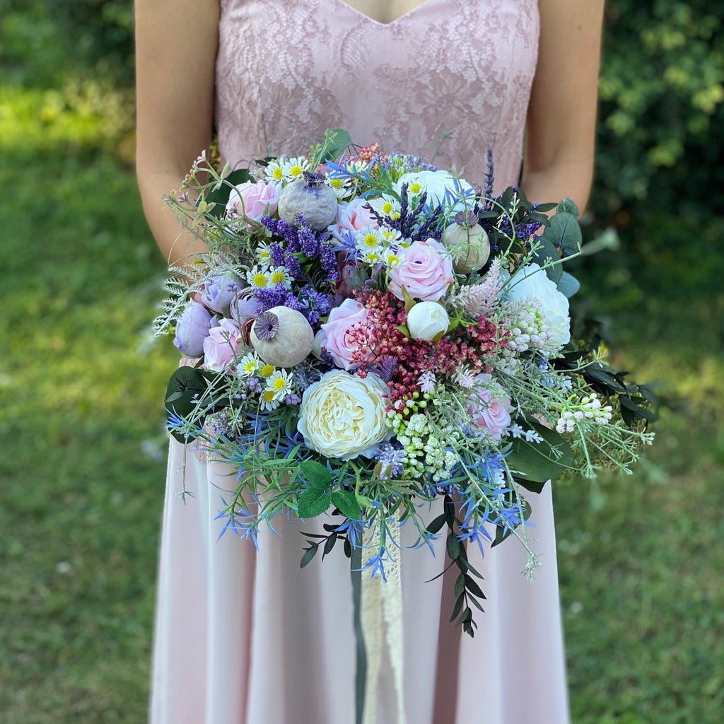 Pastel romantic wedding bouquet Blush Bridal bouquet Flower Bridesmaid Bouquet Artificial Bouquet Magaela accessories Personalised