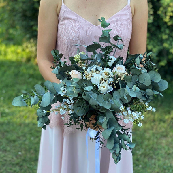 Eucalyptus wedding bouquet Bridal bouquet Flower Bridal Bouquet Boho Bouquet Natural Bouquet Bridesmaid Bouquet Artificial Bouquet