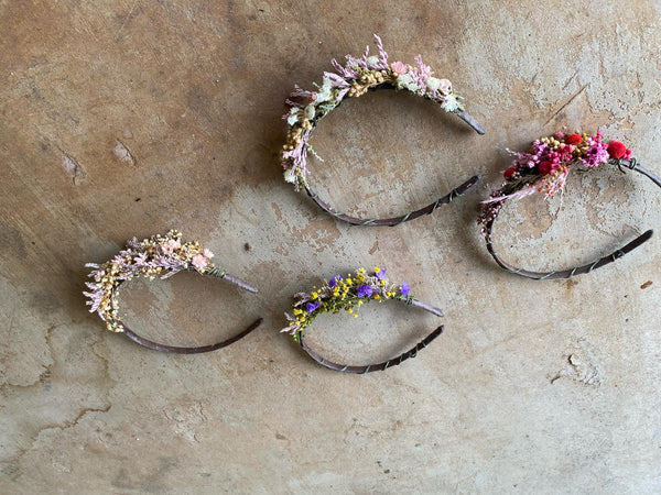 Baby's breath flower headband Bridal hairband Pink flower hairband Romantic wedding headband Magaela accessories Hair jewellery Blush Ivory