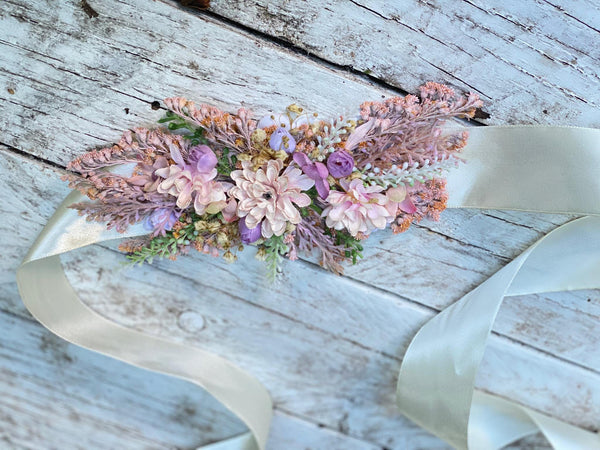 Bridal belt in bright colours Pastel Wedding belt Wedding accessories Wedding sash Floral belt Floral accessories Magaela accessories
