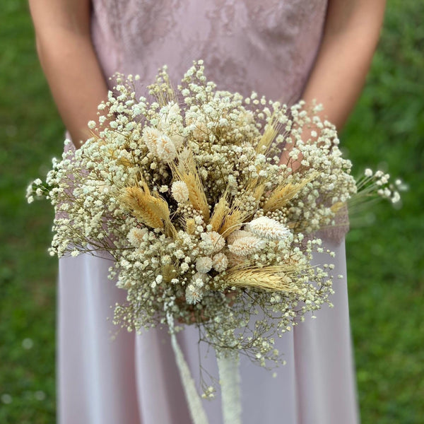 Beige wedding bouquet Ear of wheat bouquet for bride Natural bridal bouquet Preserved flower bouquet Magaela Dried flowers Ivory Handmade