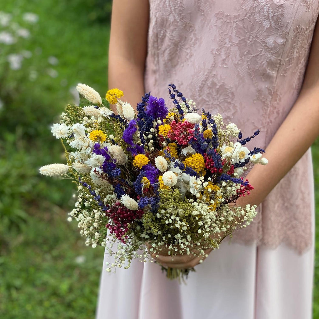 Meadow wedding bouquet Bridal flower bouquet Preserved bouquet Magaela Wedding accessories Colourful bouquet Autumn bouquet Handmade