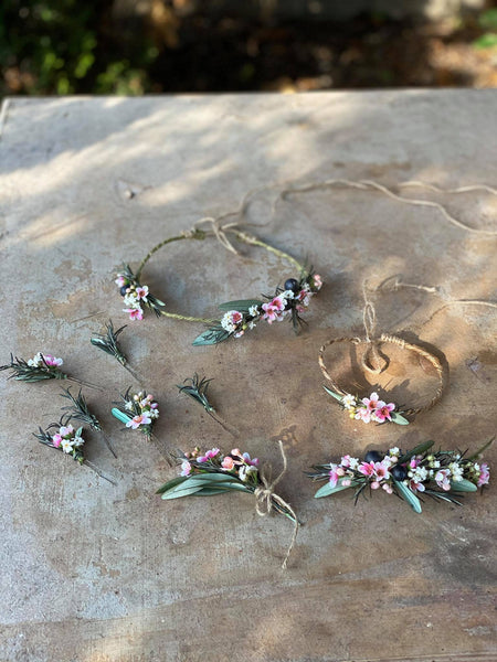 Greenery hairpins for bride Green floral hairpins Magaela Wedding hairpins Hochzeit Bridal hairpins Hair accessories Handmade Rosemary