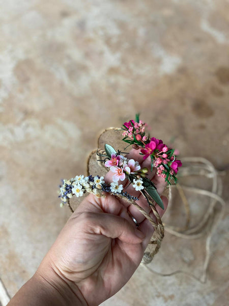 Natural newborn romantic crown Flower hair wreath Photo props Olive leaves flower wreath Blumen Haarkranz Bridal flower crown Pink and Green